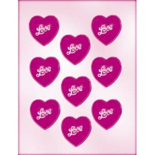 CK チョコレート型 ふっくらハートLove【チョコモールド 型抜き お菓子作り テンパリング バースデイ スイーツ 製菓 手作り バレンタイン 誕生日】(90-1501)