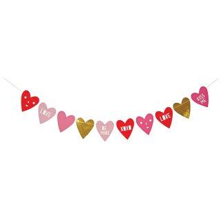 【Meri Meri】バレンタイン カード【バナーになる】ハートガーランド【バレンタイン ペーパークラフト ラッピング ハート型 プレゼント ギフト】(16-0139V)