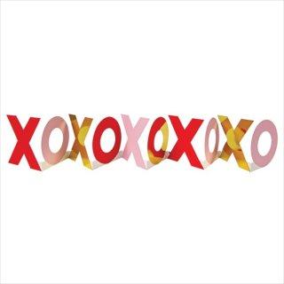 【Meri Meri】バレンタイン カード【バナーになる】XOXOガーランド キスキス【バレンタイン ギフト メッセージカード】(16-0134V)