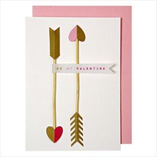 【Meri Meri】バレンタイン カード  CUPID'S ARROWS キューピッドの弓矢 【 バレンタイン ラッピング ハート型 プレゼント メッセージカード】(15-1810V)