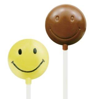 CK チョコレート型 ロリポップ型 ロリポップ/スマイル【チョコレートモールド 型抜き お菓子作り デコレーション スイーツ 製菓 手作り バレンタイン】(90-8222)