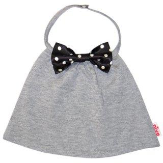 【niva】nivaのおでかけスタイ☆butterfly tie(バタフライタイ)/グレー×ブラックドット スタイ よだれかけ 男の子 女の子  赤ちゃん 出産祝い お祝い ベビー BOYS(86)