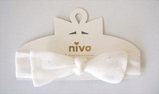 【niva】nivaのおしゃれヘアアクセサリー☆Ribbon band(リボン バンド)/ドット チュール ヘアバンド 赤ちゃん ベビー 出産祝い お祝い ギフト プレゼント(135)