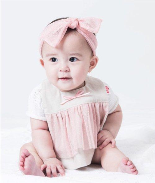 【niva】nivaのおでかけスタイ☆Tull lace derss/ピンク おしゃれスタイ よだれかけ ヒブ 女の子 コットン 赤ちゃん 出産祝い お祝い ベビー(13…