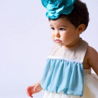 【niva】nivaのおでかけスタイ☆balloon /ブルー おしゃれスタイ よだれかけ ビブ 女の子 赤ちゃん 出産祝い お祝い ベビー