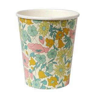【Meri Meri】リバティー柄スモールカップ【イエロー 12個入り】花柄 小花柄 Liberty print 春 紙コップ (45-2161)