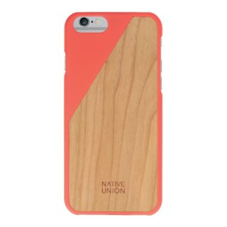 Native Union Clic Wooden iPhone 6 case Coral
