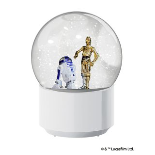 imp. WIRELESS SNOWGLOBE SPEAKER R2-D2&C-3PO