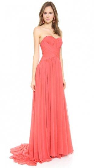 【マルケッサ】【Marchesa】 Strapless Silk Chiffon Gown  / ドレス