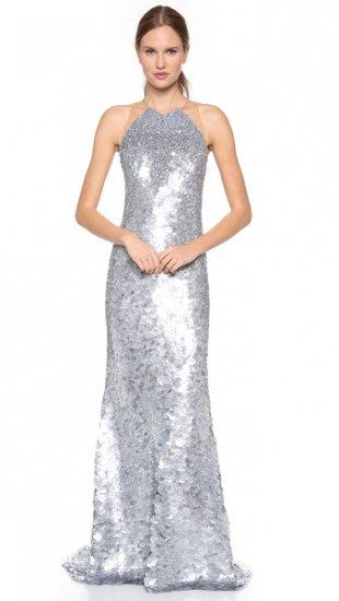 【カウフマン・フランコ】【Kaufman Franco】 Fish Scales Sleeveless Gown  / ドレス