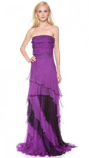 【アルベルタ フェレッティ】【Alberta Ferretti Collection】 Strapless Chiffon Gown  / ドレス