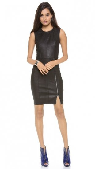 【イーガル アズローエル】【Yigal Azrouel】 Embossed Stretch Leather Dress  / ドレス