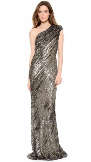 【カウフマン・フランコ】【Kaufman Franco】 One Shoulder Gown  / ドレス
