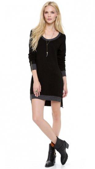 【291】 Long Sleeve Uneven Hem Dress  / ドレス