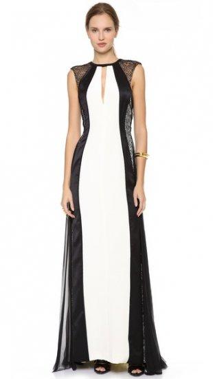 【ジェイ メンデル】【J. Mendel】J  Mendel Shredded Lace Panel Gown  / ドレス