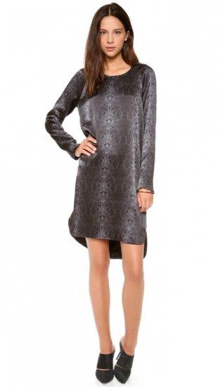 【カレン】【Kaelen】 Snake Print Raglan Sleeve Dress  / ドレス