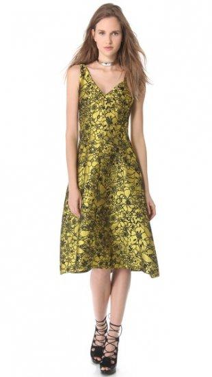 【レス ローズ】【Lela Rose】 Full Skirt Jacquard Dress  / ドレス