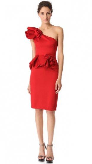 【マルケッサ】【Marchesa】 Peplum Dress with Roses  / ドレス