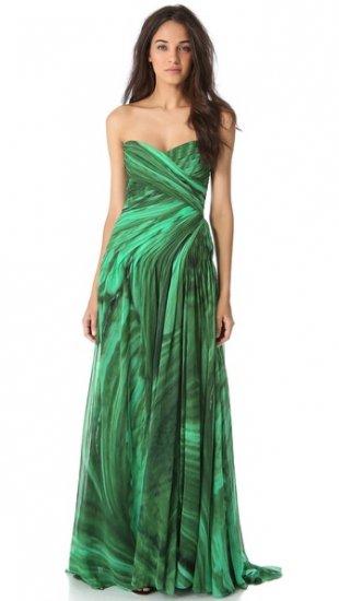 【モンクレール】【Monique Lhuillier】 Draped Strapless Gown  / ドレス