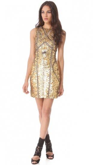 【モンクレール】【Monique Lhuillier】 Leather Armor Sheath Dress  / ドレス