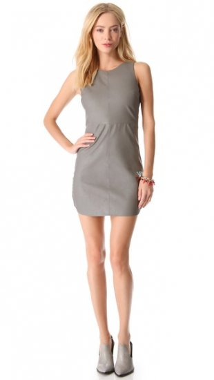 【ミネ】【Myne】 Nash Faux Leather Dress  / ドレス
