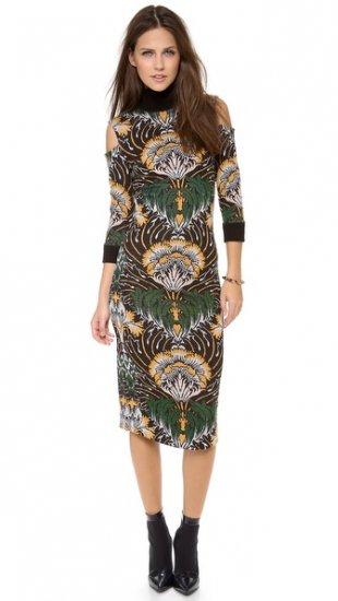 【スノ】【SUNO】 Knit Jacquard Pencil Dress  / ドレス