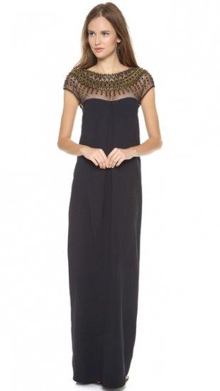 【テンパリー ロンドン】【Temperley London】 Crystal Cap Sleeve Gown  / ドレス