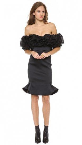 【ザック ポーゼン】【Zac Posen】 Ruffle Strapless Dress  / ドレス