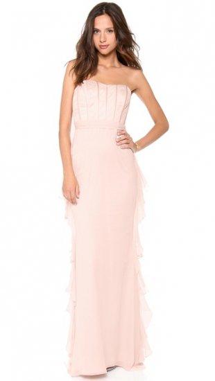 【バッジェリー ミシュカ】【Badgley Mischka Collection】 Strapless Corset Ruffle Gown  / ドレス