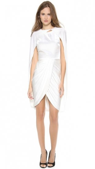 【ジャンバティスタ ヴァリ】【Giambattista Valli】 Sleeveless Cape Dress  / ドレス