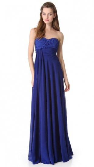 【ジャンバティスタ ヴァリ】【Giambattista Valli】 Strapless Silk Gown  / ドレス