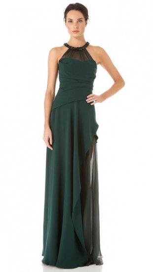 【ジェイ メンデル】【J. Mendel】J  Mendel Draped Gown with Crystal Halter  / ドレス