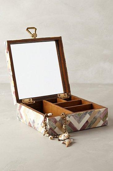 【アンソロポロジー】【Anthropologie】Ivory Inlay Jewelry Box