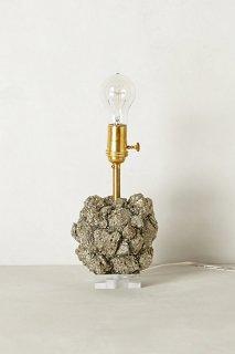 �ڥ���ݥ?���ۡ�Anthropologie��Pyrite Crystal Lamp Base