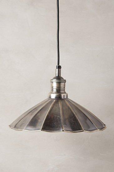 【アンソロポロジー】【Anthropologie】Scalloped Brass Pendant Lamp