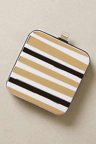 【アンソロポロジー】【Anthropologie】Goldstripe iPhone 5 Backup Battery
