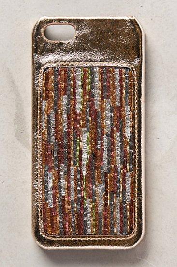 【アンソロポロジー】【Anthropologie】Sequin Stitched iPhone 5 Case