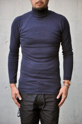 アフターダーク【after dark】Dutch Pique Polo-Neck ネイビー