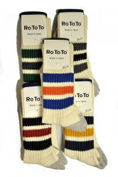 ロトト【rototo】COARSE RIBBED OLDSCHOOL SOCKS
