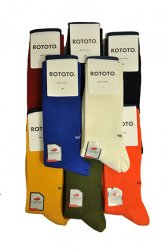 ロトト【rototo】STRETCHLY RIBBED CREW SOCKS