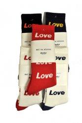 <img class='new_mark_img1' src='https://img.shop-pro.jp/img/new/icons1.gif' style='border:none;display:inline;margin:0px;padding:0px;width:auto;' />デカ【DECKA×BRU NA BOINNE】Pile Socks  Love & Peace