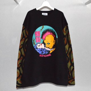Pullover Sweat Tribal Sleeve