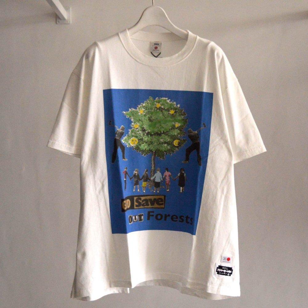 【KIDILL×EDWIN×JAMIE REID】Blue Print T-shirts