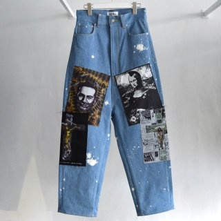 WS Patch Tapered Denim Pants