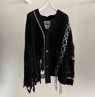 【KIDILL×rurumu:】Limited Docking Crush Knit Cardigan