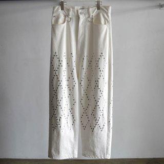 Wide Taped Denim Pants
