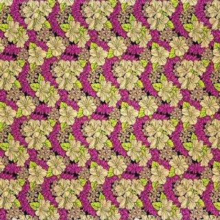 紫とベージュのハワイアン...