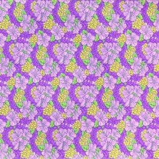 紫のハワイアンファブリッ...