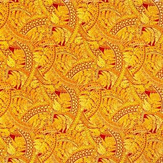 黄色のハワイアンファブリ...