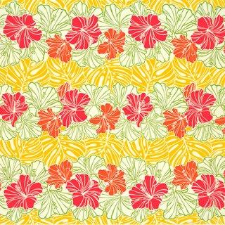 クリーム色と黄色のハワイ...